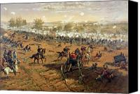Engagement Canvas Prints - Battle of Gettysburg Canvas Print by Thure de Thulstrup