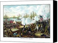 Founding Fathers Painting Canvas Prints - Battle of New Orleans Canvas Print by War Is Hell Store