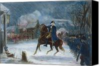 1776 Canvas Prints - Battle Of Trenton, 1776 Canvas Print by Granger