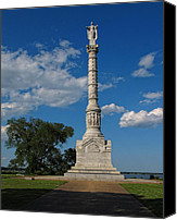 Independance Canvas Prints - Battle of Yorktown Monument Canvas Print by Dave Mills