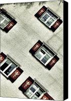 Bavarian Canvas Prints - Bavarian Window Shutters Canvas Print by Joana Kruse