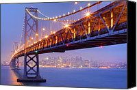 Bay Bridge Canvas Prints - Bay Area Bridge Canvas Print by Aaron Reed Photography