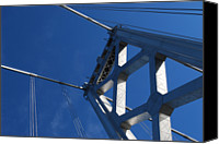 Bay Bridge Canvas Prints - Bay Bridge And Blue Sky, San Francisco Canvas Print by Jamie Jennings www.JJphotos.ca