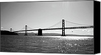 Photographic Art Print Canvas Prints - Bay Bridge Canvas Print by Rona Black