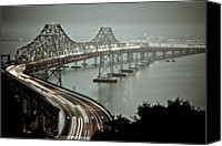 Bay Bridge Canvas Prints - Bay Bridge Canvas Print by Stefan Baeurle
