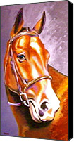 Large Format Horse Print Canvas Prints - Bay Champion Canvas Print by Susan A Becker