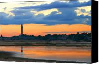Cape Cod Canvas Prints - Bay Sunset Canvas Print by Sue  Brehant