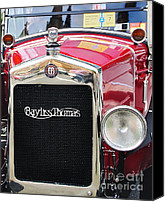 Kaye Menner Car Canvas Prints - Bayliss Thomas Badge and Emblem Canvas Print by Kaye Menner