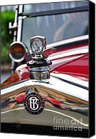 Kaye Menner Car Canvas Prints - Bayliss Thomas Badge and Hood Ornament Canvas Print by Kaye Menner