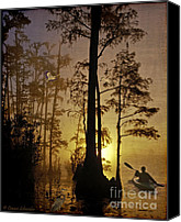 Lianne_schneider Bayou Canvas Prints - Bayou Sunrise Canvas Print by Lianne Schneider
