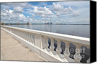 Tampa Canvas Prints - Bayshore Boulevard Balustrade Canvas Print by Carol Groenen