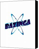 Tv Show Canvas Prints - Bazinga - Big Bang Theory Canvas Print by Bleed Art