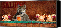 Wolf Painting Canvas Prints - BB Wolf and Co... Canvas Print by Will Bullas