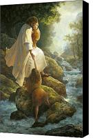 Rocks Painting Canvas Prints - Be Not Afraid Canvas Print by Greg Olsen