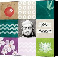Yoga Canvas Prints - Be Present Canvas Print by Linda Woods