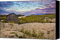 Cape Cod Scenery Canvas Prints - Beach Barn Canvas Print by Bill  Wakeley