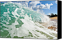 Blue Canvas Prints - Beach Breaker Canvas Print by Paul Topp