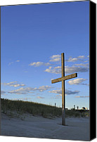 Terry Deluco Canvas Prints - Beach Cross Canvas Print by Terry DeLuco