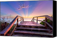 Florida Bridge Canvas Prints - Beach Dreams Canvas Print by Debra and Dave Vanderlaan
