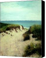 Relaxation Pastels Canvas Prints - Beach Dunes Canvas Print by Cindy Plutnicki