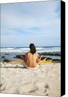 Breathe Canvas Prints - Beach Meditation Canvas Print by Brandon Tabiolo - Printscapes