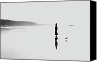 Solitude Canvas Prints - Beach Minimalism Canvas Print by Play For Passion