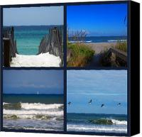 Atlantic Beaches Canvas Prints - Beach Multiples Canvas Print by Susanne Van Hulst
