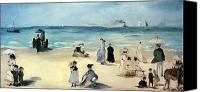 Beach Scene Canvas Prints - Beach Scene Canvas Print by Edouard Manet