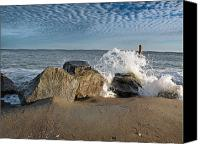 Buy Photos Online Canvas Prints - Beach Scene Canvas Print by Steven  Michael