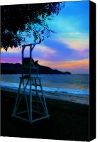 Potography Canvas Prints - Beach Sky Canvas Print by Perry Webster
