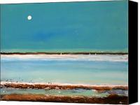 Moon Canvas Prints - Beach Textures Canvas Print by Toni Grote
