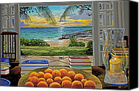 Cay Canvas Prints - Beach View Canvas Print by Carey Chen