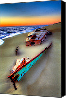 Tropical Storm Canvas Prints - Beached Beauty Canvas Print by Dan Carmichael