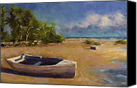 Seascape Pastels Canvas Prints - Beached Canvas Print by David Patterson