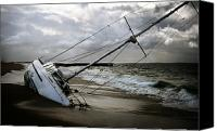 Ship Wreck Canvas Prints - Beached Canvas Print by Shane Rees