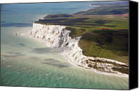 Guidance Canvas Prints - Beachy Head At High Tide Canvas Print by Christopher Hope-Fitch