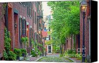 Cable Canvas Prints - Beacon Hill Canvas Print by Susan Cole Kelly