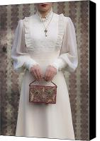 Cream Dress Canvas Prints - Beaded Handbag Canvas Print by Joana Kruse