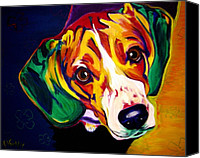 Beagle Canvas Prints - Beagle - Bailey Canvas Print by Alicia VanNoy Call