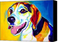 Beagle Canvas Prints - Beagle - Lou Canvas Print by Alicia VanNoy Call