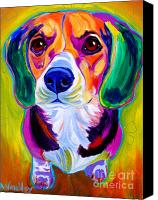 Beagle Canvas Prints - Beagle - Molly Canvas Print by Alicia VanNoy Call