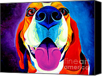 Beagle Canvas Prints - Beagle - Saphira Canvas Print by Alicia VanNoy Call