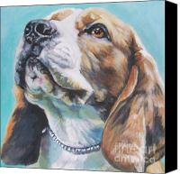 Beagle Canvas Prints - Beagle Canvas Print by L A Shepard
