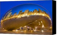 Skyline Canvas Prints - Bean Reflections Canvas Print by Donald Schwartz