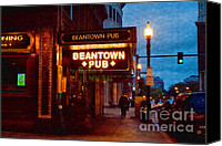 Bars Canvas Prints - Beantown Pub Canvas Print by Joann Vitali