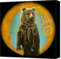 Kodiak Canvas Prints - Bear  Canvas Print by Ethan  Foxx 