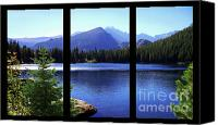Triptych Canvas Prints - Bear Lake triptych Canvas Print by Terril Heilman