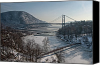 Connection Canvas Prints - Bear Mountain Bridge Canvas Print by Photosbymo
