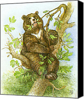 Trees Special Promotions - Bear Canvas Print by Natalie Berman