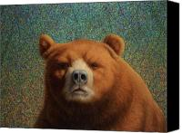 Warm Canvas Prints - Bearish Canvas Print by James W Johnson